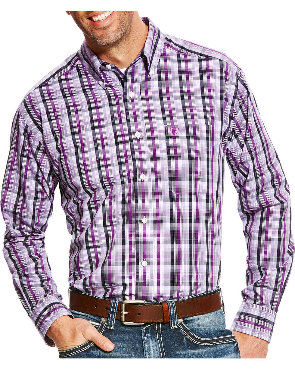 Ariat Men's Zelman Classic Fit Wrinkle Free Plaid Long Sleeve Shirt, , hi-res