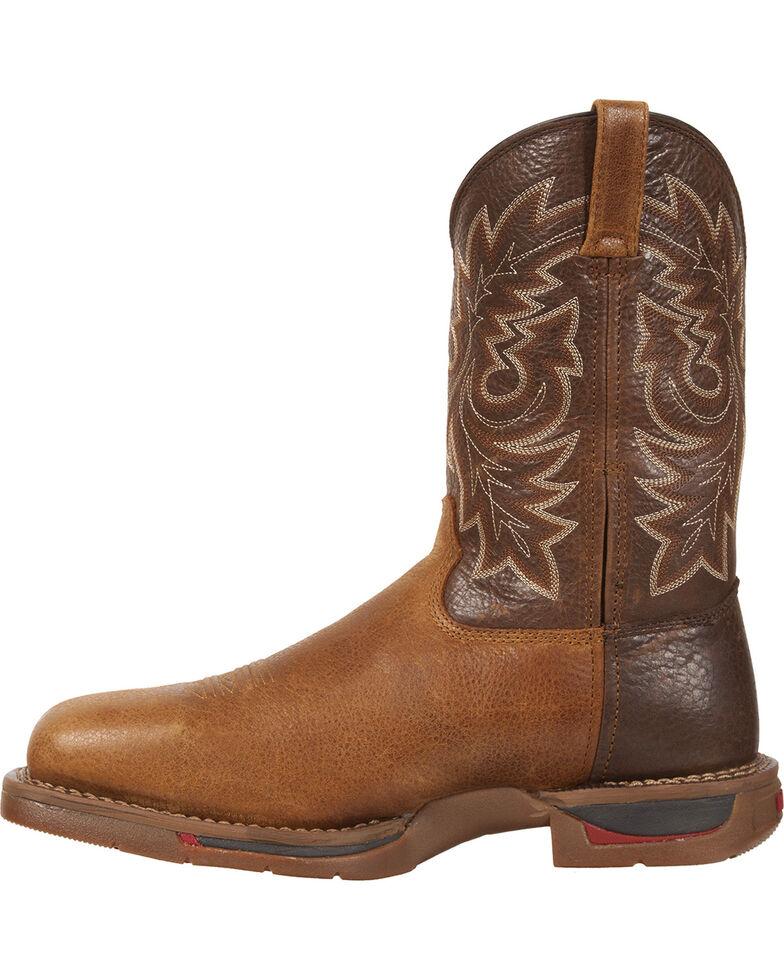 Rocky Long Range Western Work Boots - Composite Toe, Saddle Brown, hi-res