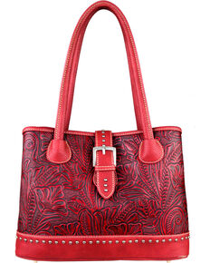 9478fb108 Montana West Trinity Ranch Tooled Design Concealed Handgun Collection  Handbag