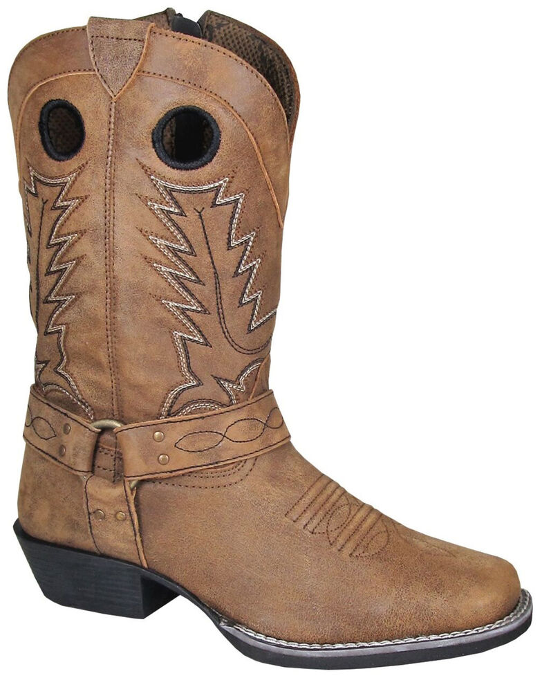 Smoky Mountain Girls' Redwood Western Boots - Square Toe, Brown, hi-res