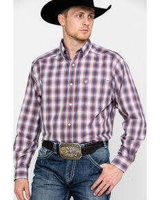 Ariat Men's Wrinkle Free Valero Print Long Sleeve Western Shirt , Multi, hi-res