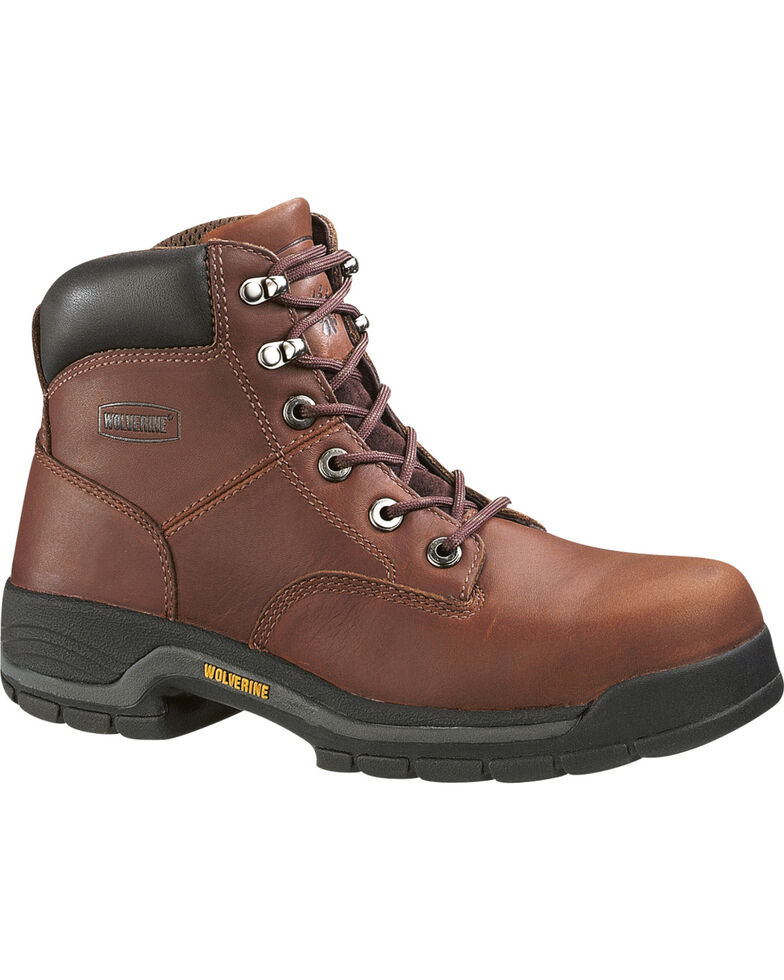 "Wolverine Men's Harrison Lace-Up 6"" Work Boots, Brown, hi-res"