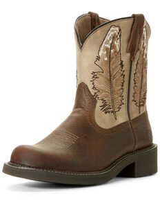 Ariat Women's Feather Buffalo Western Boots - Round Toe, Gold, hi-res