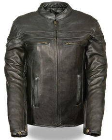 Milwaukee Leather Women's Sporty Scooter Crossover Leather Jacket, Black, hi-res