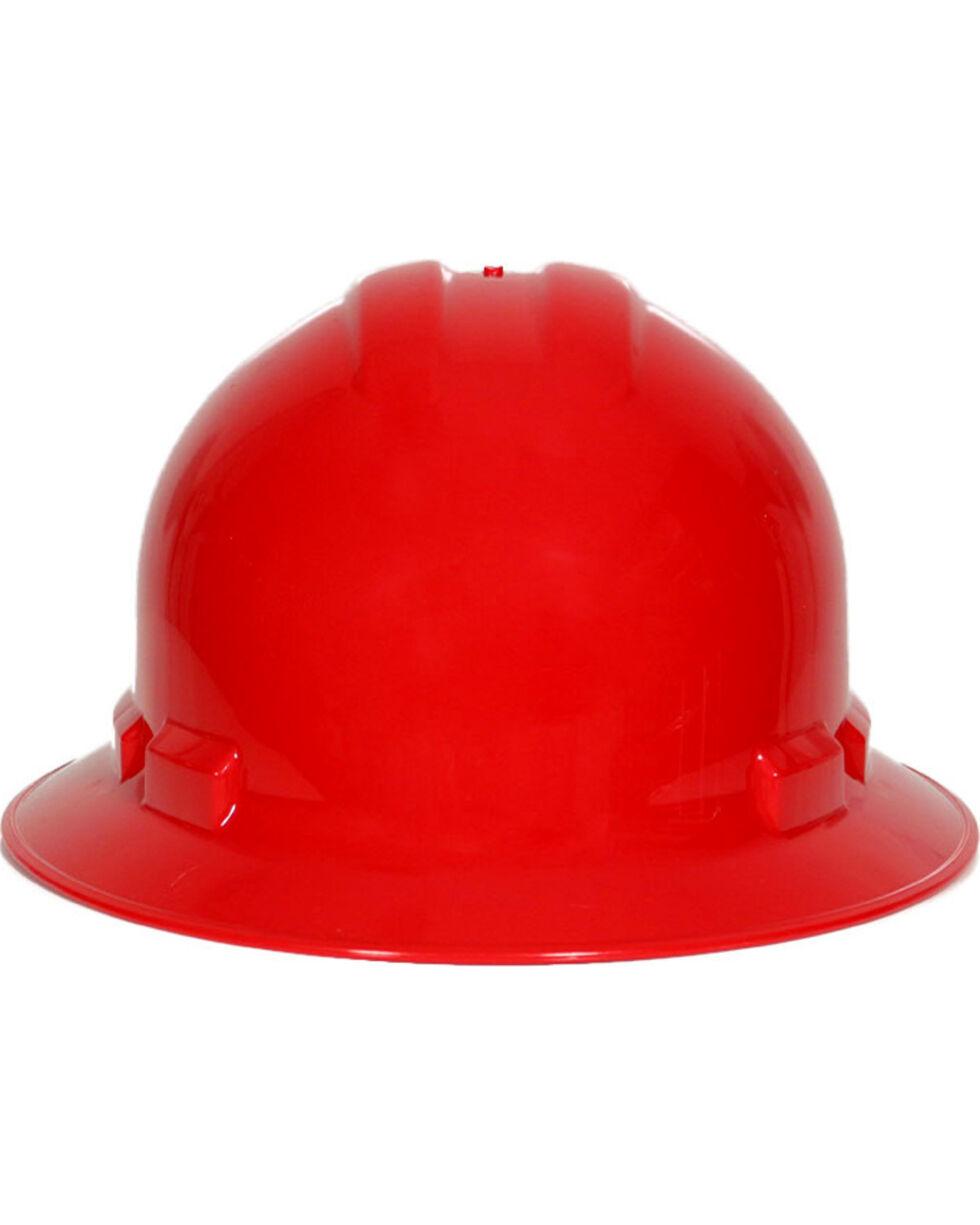 Radians Red Quartz Full Brim Hard Hats , Red, hi-res