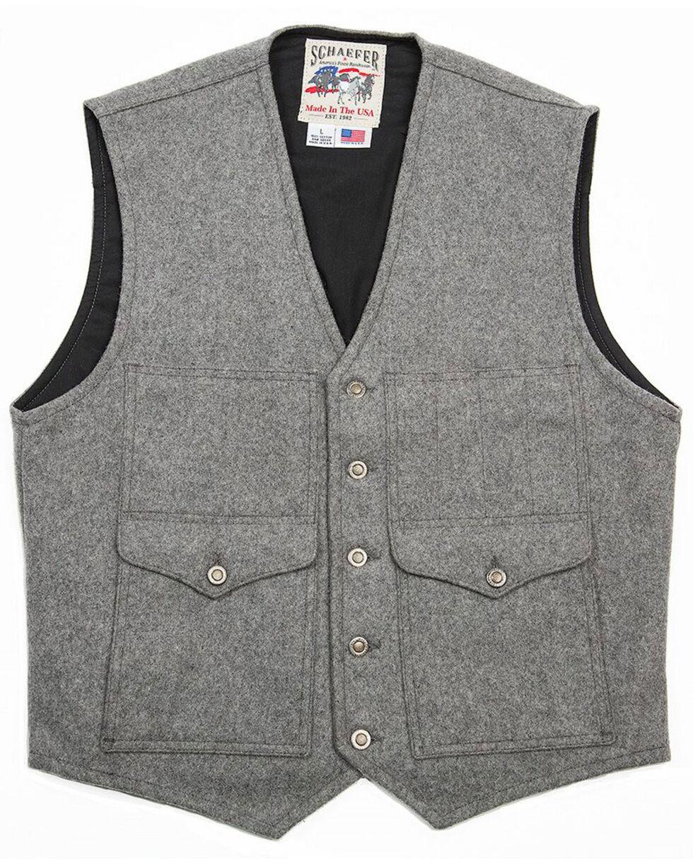 Schaefer Outfitter Men's Scout Melton Wool Vest , Heather Grey, hi-res