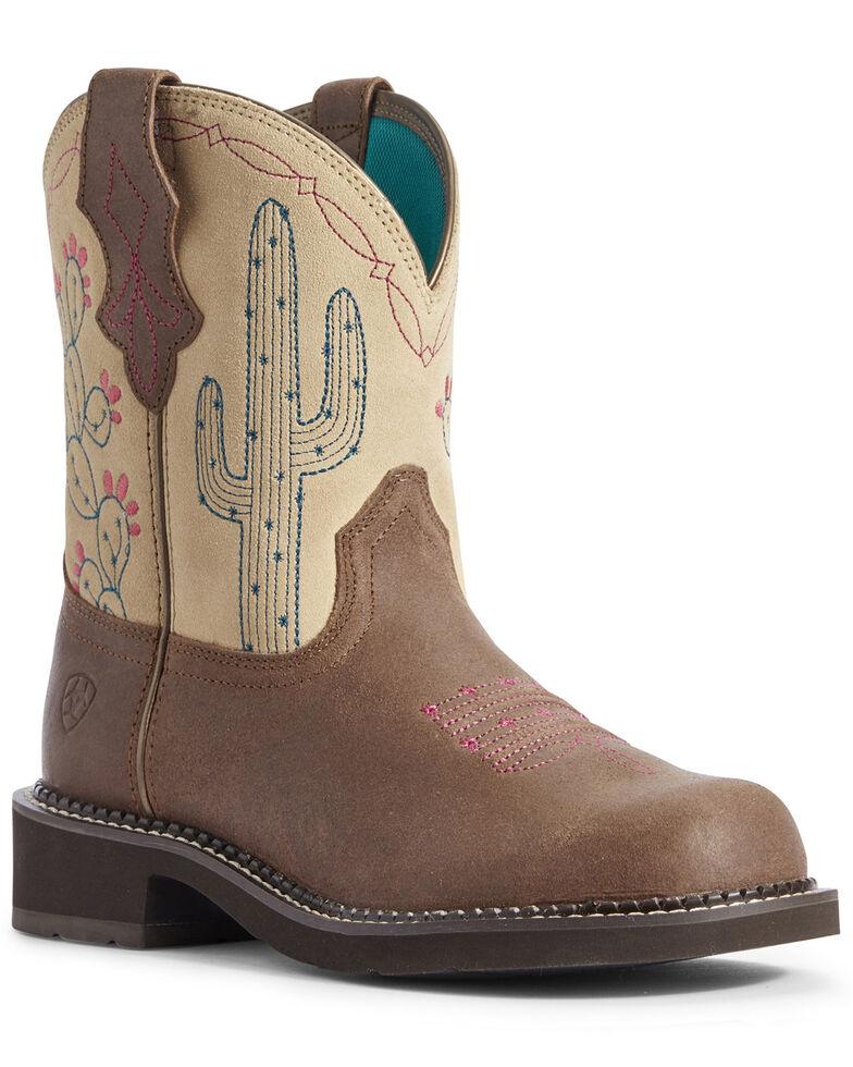 Ariat Women's Heritage Desert Fatbaby Western Boots - Round Toe, Brown, hi-res