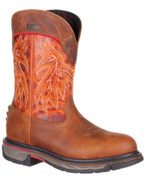 Rocky Men's Iron Skull Western Boots - Round Toe, Multi, hi-res