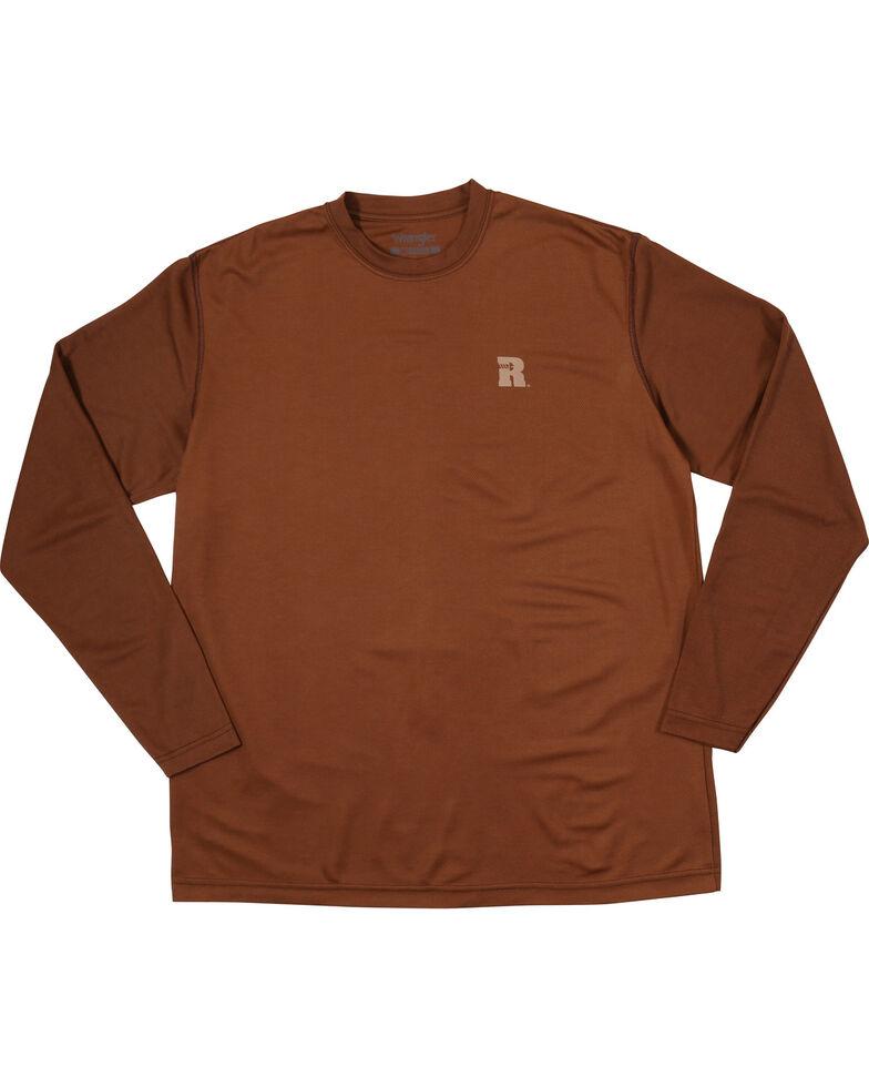 Wrangler Riggs Men's Brown Crew Performance Long Sleeve Work T-Shirt - Big & Tall, Brown, hi-res