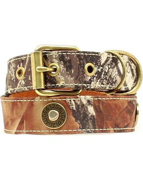 Double Barrel Camo Shotgun Shell Concho Dog Collar - XS-XL, Mossy Oak, hi-res