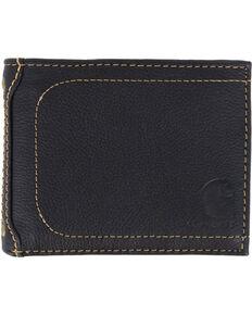 Carhartt Men's Black Nubuck Passcase Wallet , Black, hi-res