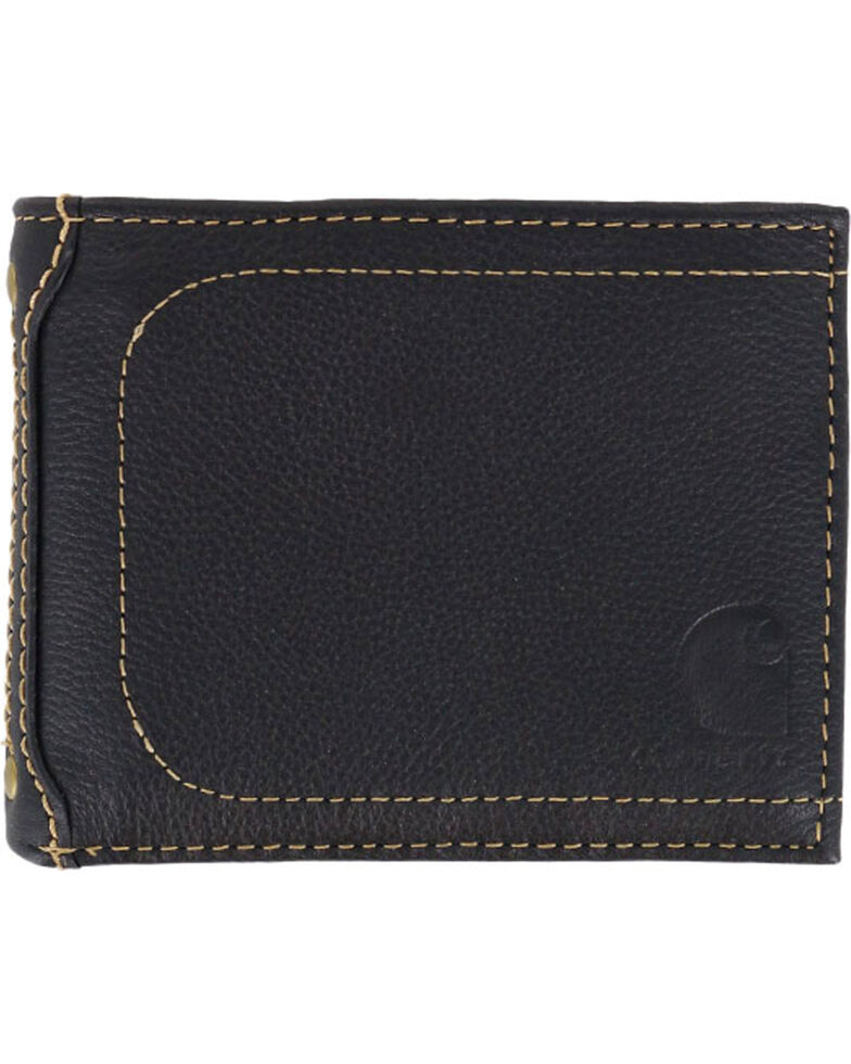 Carhartt Men's Black Nubuck Passcase Wallet , Black, hi-res