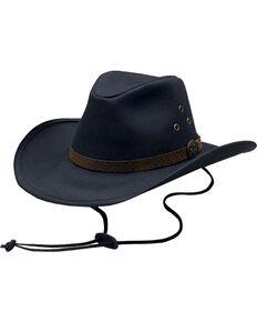 Outback Trading Co. Oilskin Trapper Hat, Black, hi-res