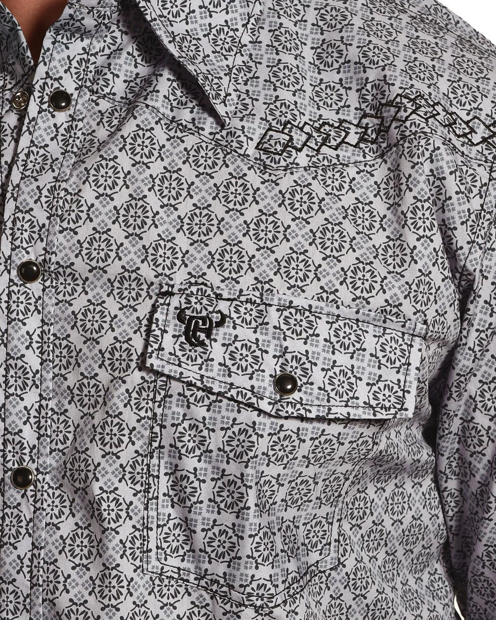 Cowboy Hardware Men's Grey Town Square Print Long Sleeve Shirt, Grey, hi-res