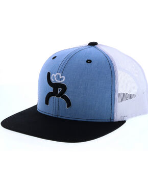 Hooey Men's Roughy Trucker Baseball Cap , Light Blue, hi-res