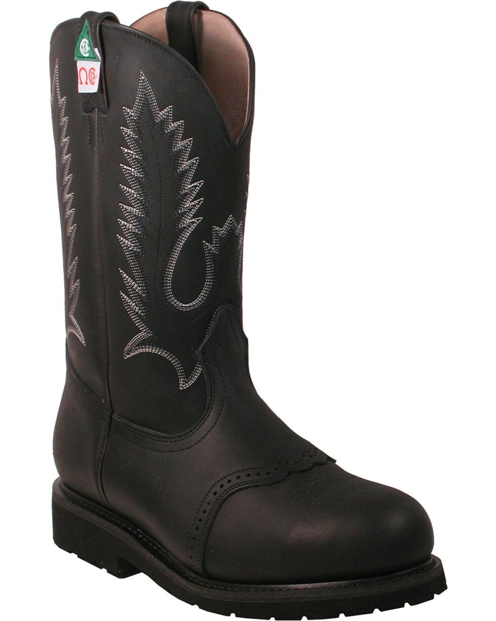 Boulet Men's Steel Toe Work Boots, Black, hi-res