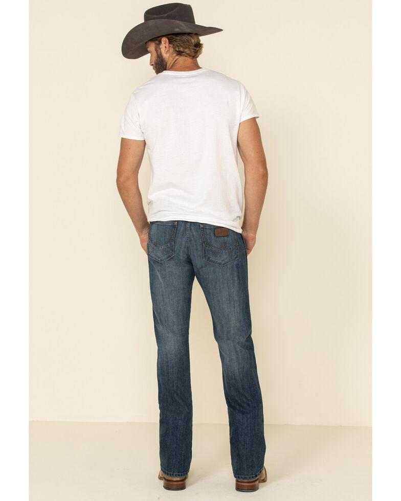 Wrangler Retro Men's Irvine Stretch Slim Bootcut Jeans , Blue, hi-res
