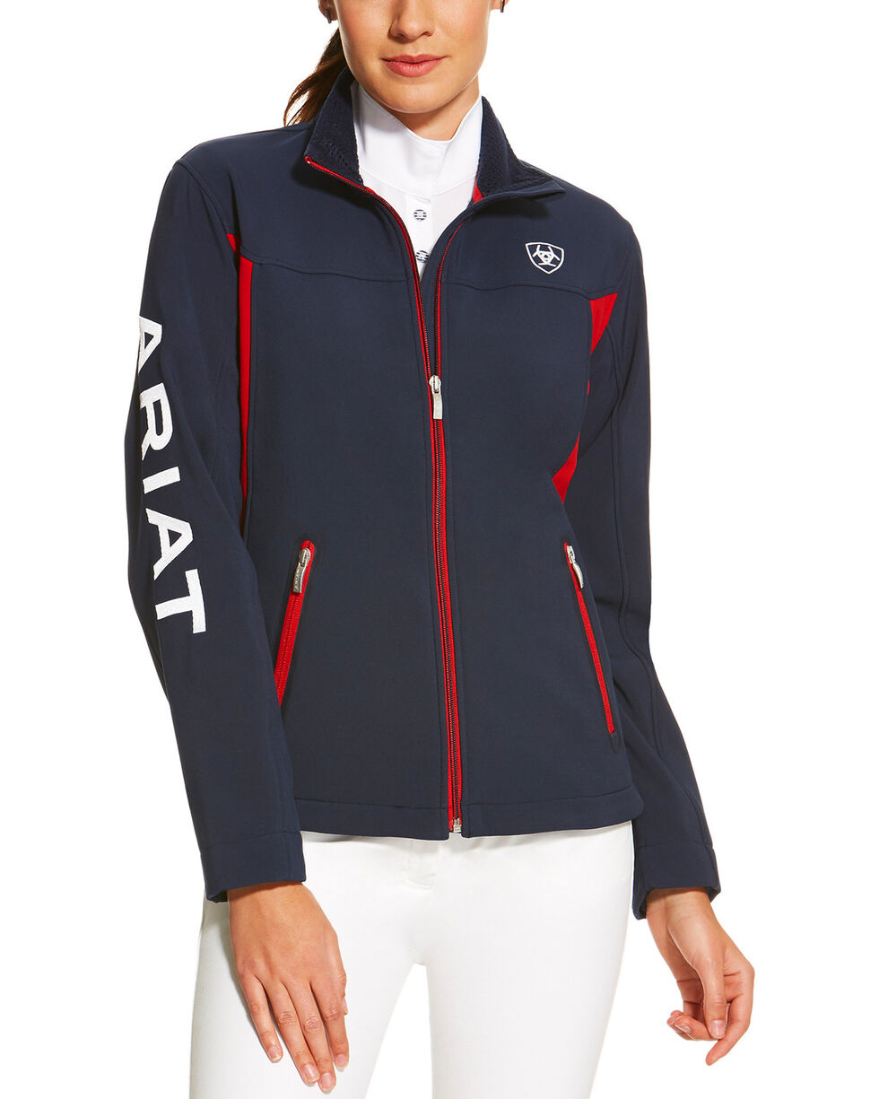 Ariat Women's Softshell Team Jacket , Navy, hi-res