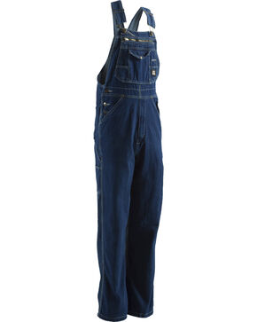 Berne Dark Stonewash Original Unlined Washed Denim Bib Overalls - Big (44 - 54), Stonewash, hi-res