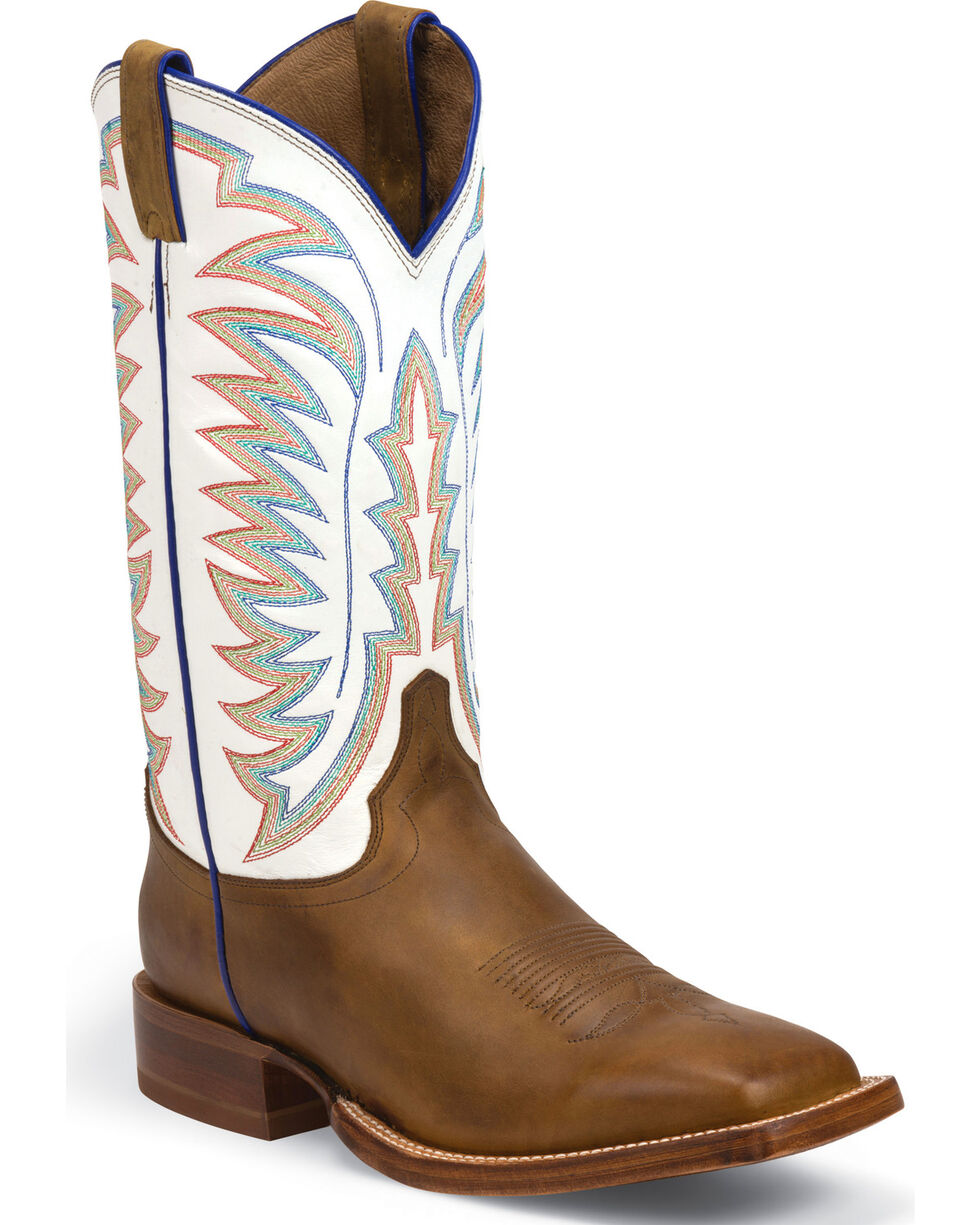 Justin Men's Tack CPX Western Boots, Golden Tan, hi-res
