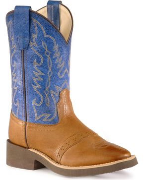 Jama Youth Crepe Western Boots, Tan, hi-res