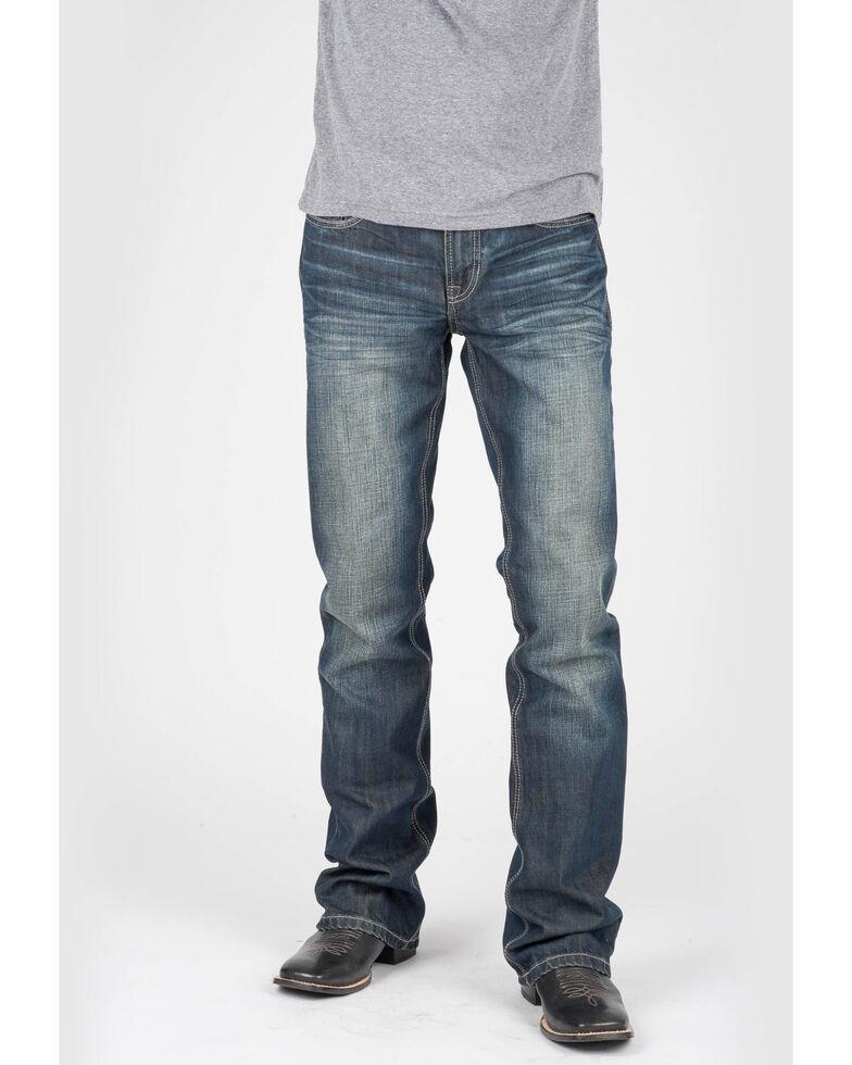 Tin Haul Men's Jagger Fit Corded Bootcut Jeans, Indigo, hi-res
