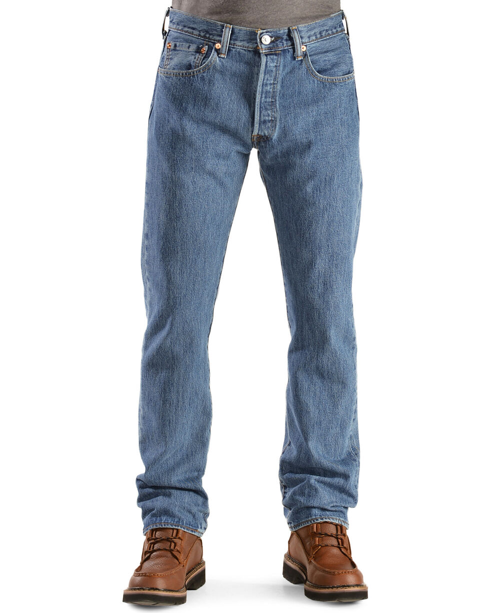 Levi's Men's Rinsed 501 Original  Jeans, Stonewash, hi-res