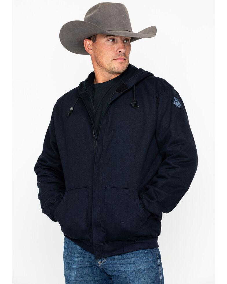 NSA Men's 2X-3X Heavyweight Pullover FR Work Hoodie - Big, Navy, hi-res