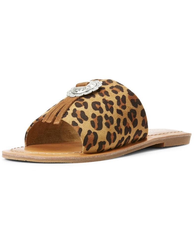 Ariat Women's Unbridled Ellie Leopard Print Sandals, Leopard, hi-res