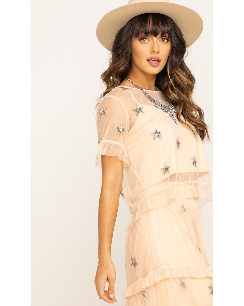 Show Me Your Mumu Women's Pink Shiny Star Sequin Jeri Top, Pink, hi-res