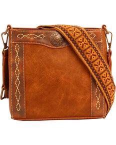 Blazin Roxx Women's Ivy Copper Concho Concealed Carry Crossbody Bag, Tan, hi-res