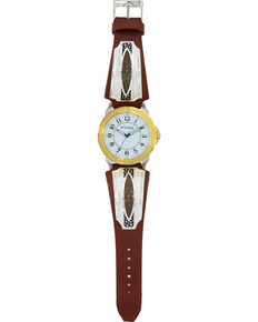 Montana Silversmiths Two Tone River Pebbles Watch , Silver, hi-res