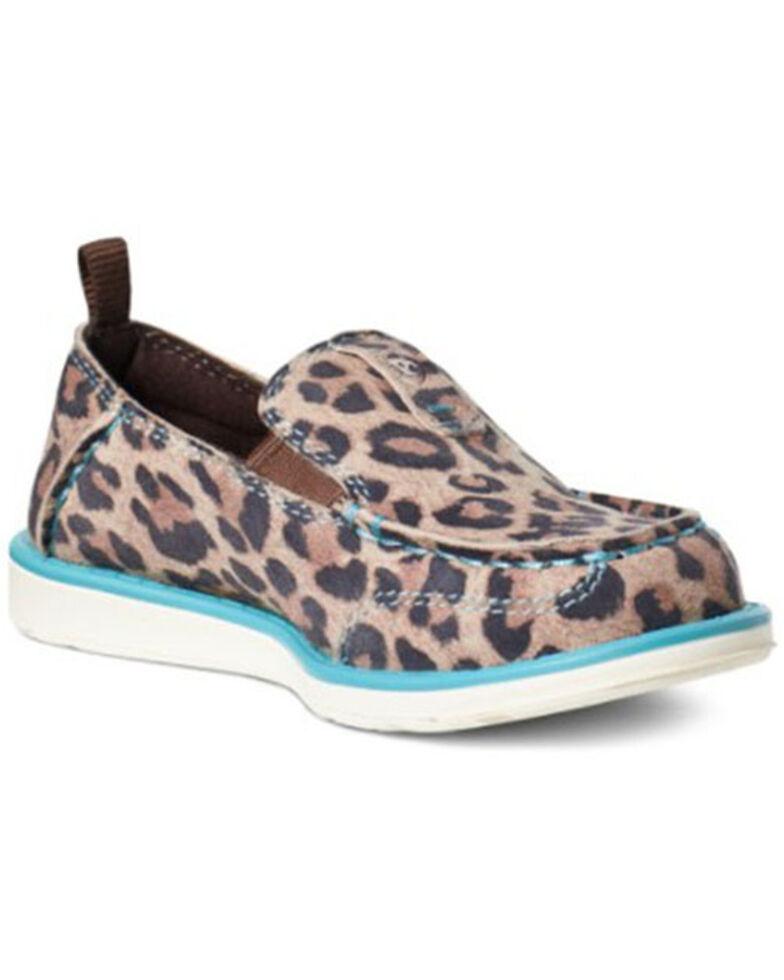 Ariat Girls' Cheetah Cruiser Shoes - Moc Toe, Brown, hi-res