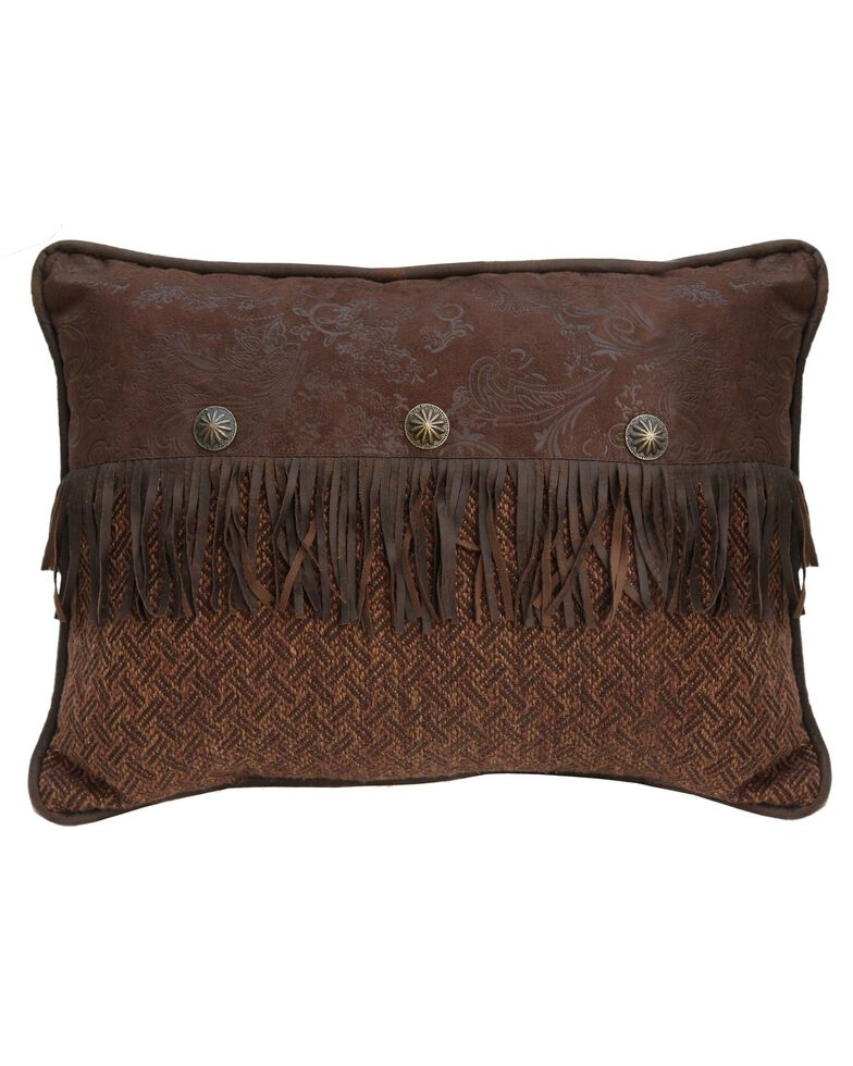 HiEnd Accents Del Rio Fringe & Concho Pillow, Multi, hi-res