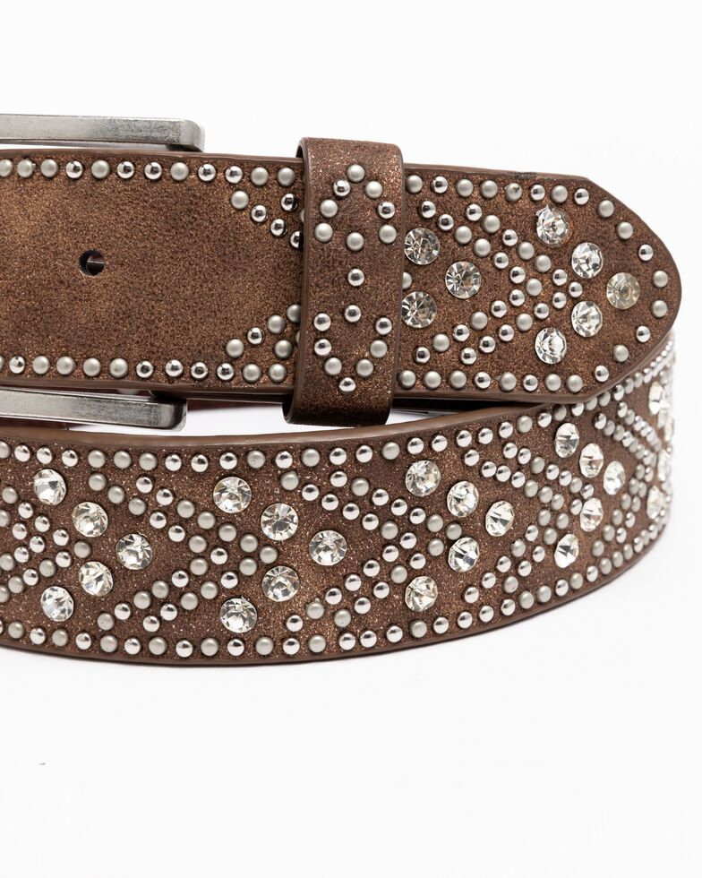 Shyanne Women's Brown Tempt To Shine Belt, Brown, hi-res