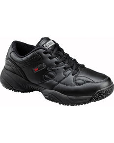 SkidBuster Men's Slip Resistant Lace Up Work Shoes, Black, hi-res