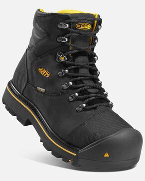 Keen Men's Milwaukee Waterproof Work Boots - Steel Toe, Black, hi-res