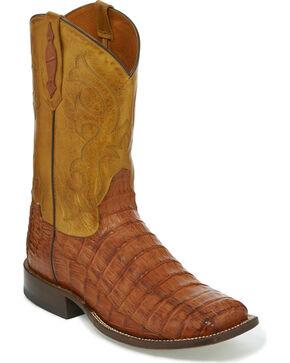 Tony Lama Men's Caiman Belly Exotic Boots, Tan, hi-res