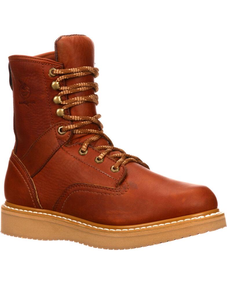 Georgia Men's Barracuda Wedge Work Boots, Brown, hi-res