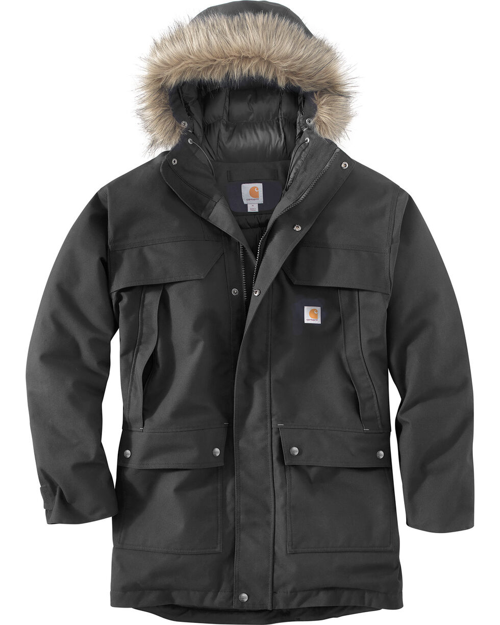 Carhartt Men's Quick Duck Sawtooth Parka - Tall, Black, hi-res