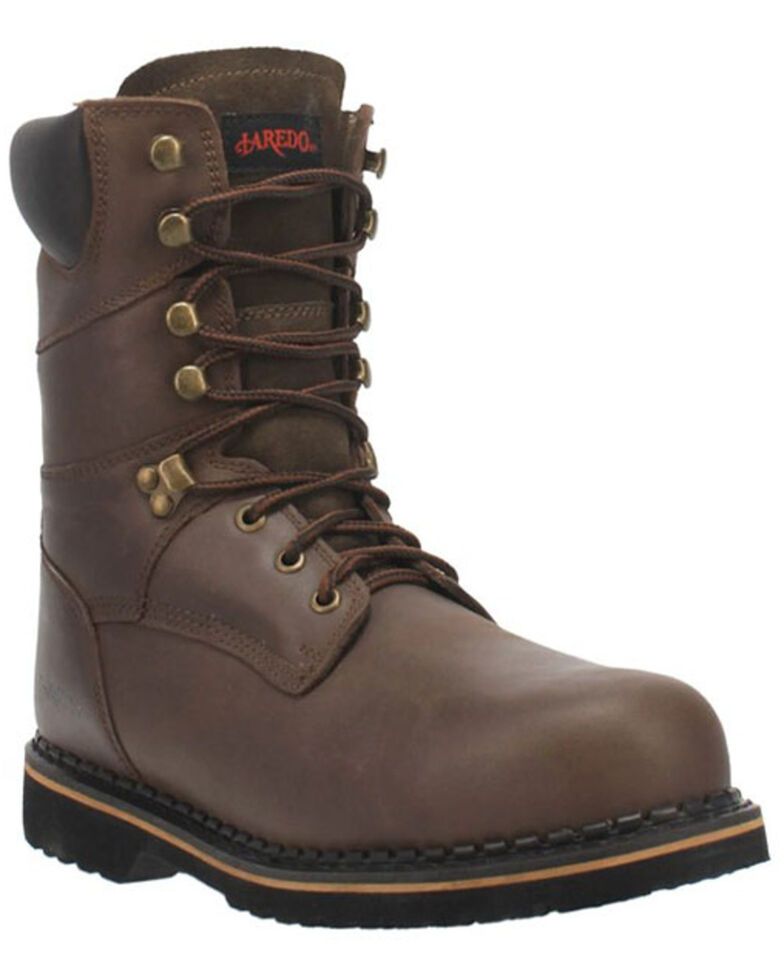 Laredo Men's Chain Work Boots - Steel Toe, Brown, hi-res