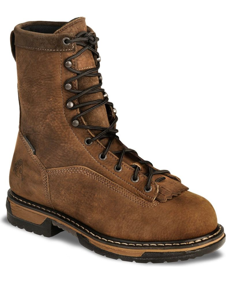 Rocky Men's Steel Toe Ironclad Work Boots, Copper, hi-res