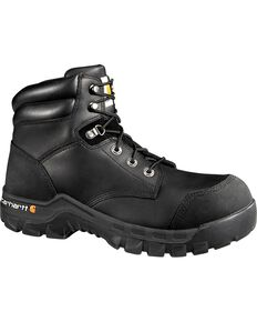 "Carhartt Men's 6"" Rugged Flex Waterproof Work Boots - Composite Toe, Black, hi-res"