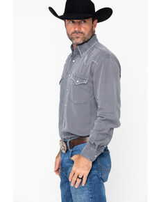 Panhandle Men's Long Sleeve Western Shirt, Grey, hi-res