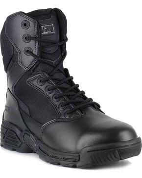 Magnum Men's Stealth Force Side Zip Waterproof Work Boots, Black, hi-res