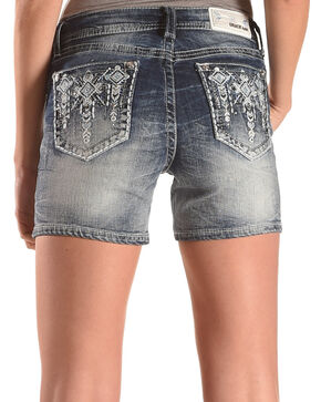 Grace in LA Women's Indigo Hangdown Pocket Shorts , Indigo, hi-res