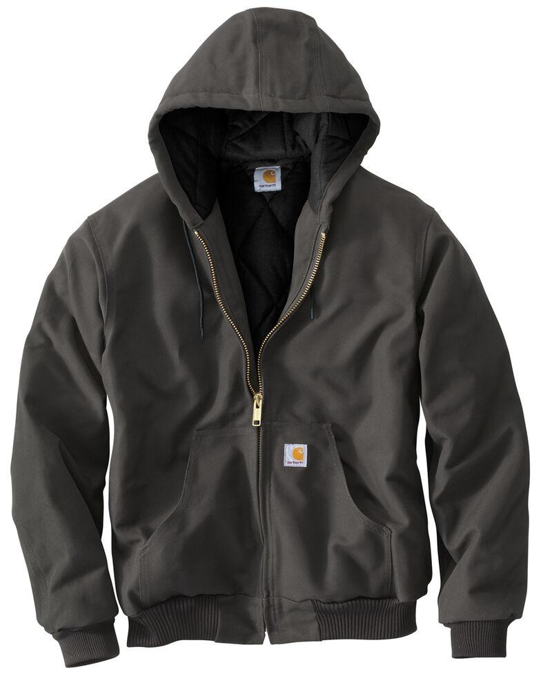 Carhartt Men's Quilted Flannel Lined Duck Active Work Jacket, Grey, hi-res