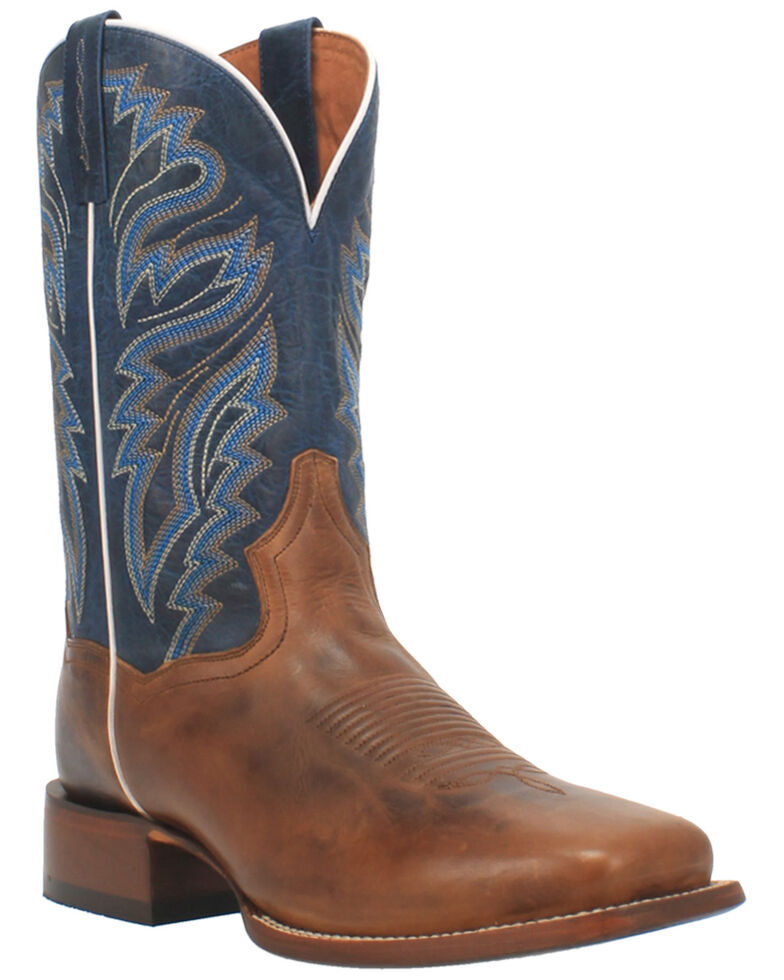 Dan Post Men's Waxy Brown Western Boots - Wide Square Toe, Brown, hi-res