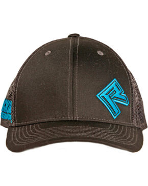 Rock & Roll Cowboy Men's Two Tone Trucker Cap, Black, hi-res