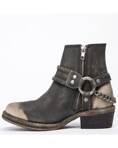 Free People Women's Stony Desert Western Booties - Round Toe, Black, hi-res